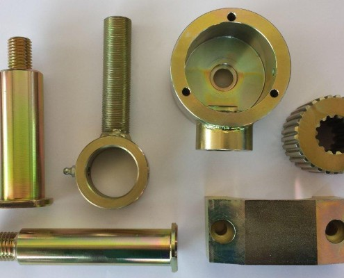 Frästeile der Firma E-Metall-und Zerspanungstechnik